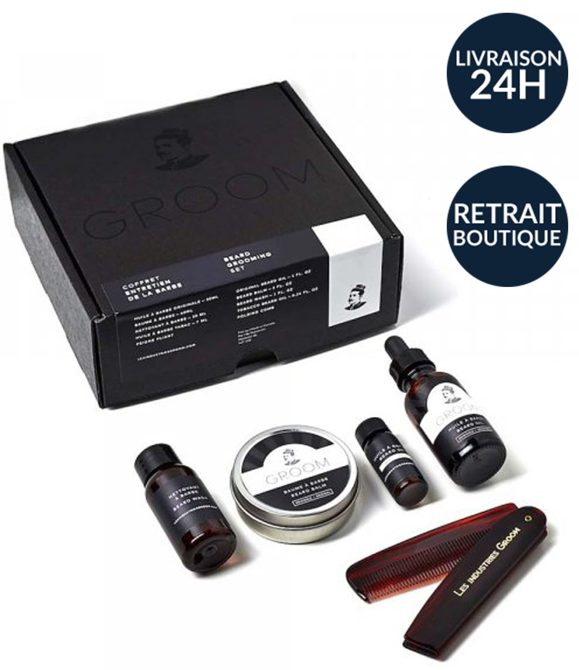 coffret entretien barbe groom man itself produits de. Black Bedroom Furniture Sets. Home Design Ideas