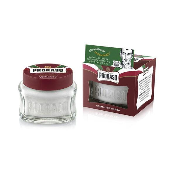 creme avant rasage pour barbes dures proraso - MAN ITSELF - Spécialiste des produits de soin visage, rasage, corps, cheveux, bouche, accessoires et idées cadeaux homme