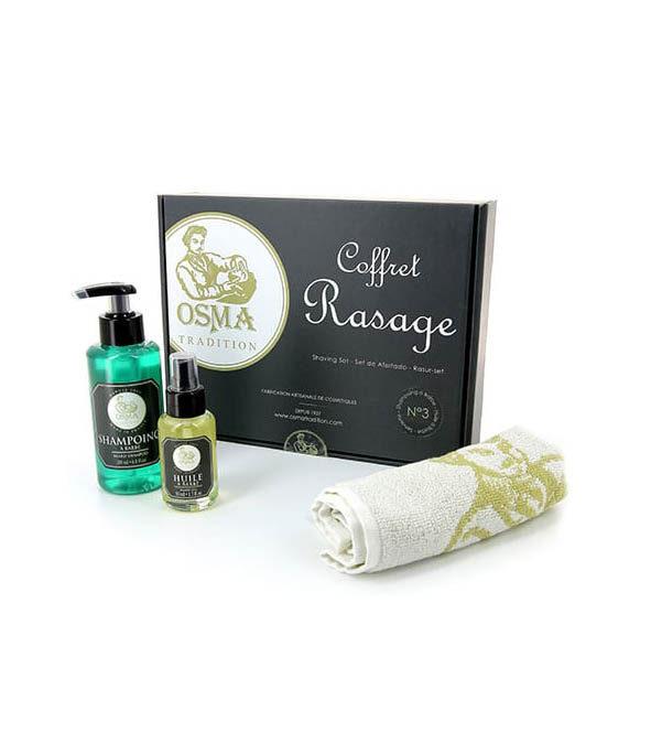 OSMA coffret rasage 3 - MAN ITSELF - Spécialiste des produits de soin visage, rasage, corps, cheveux, bouche, accessoires et idées cadeaux homme