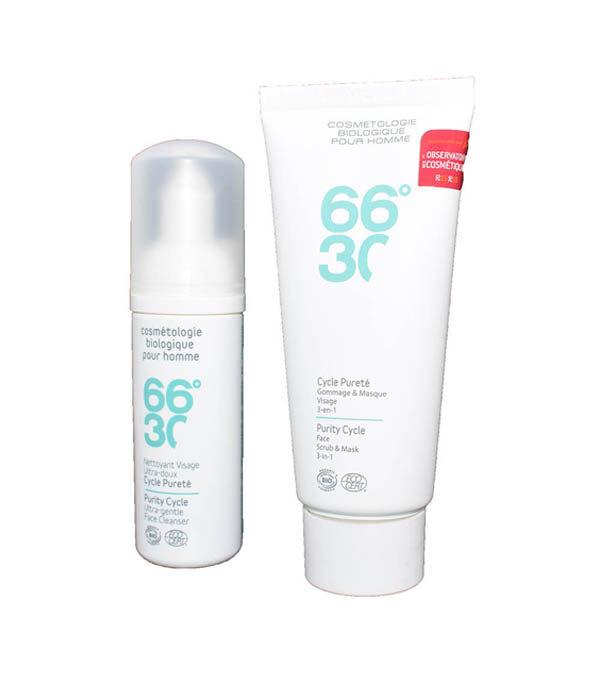 66 30 pack gommage nettoyant visage - MAN ITSELF - Spécialiste des produits de soin visage, rasage, corps, cheveux, bouche, accessoires et idées cadeaux homme