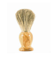blaireau bois olivier fleur gris - MAN ITSELF - Spécialiste des produits de soin visage, rasage, corps, cheveux, bouche, accessoires et idées cadeaux homme