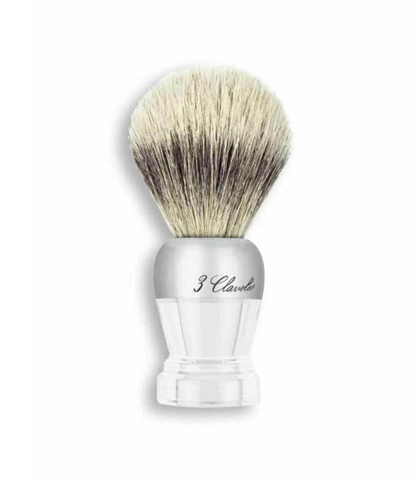 blaireau pur poil blaireau design 3claveles - MAN ITSELF - Spécialiste des produits de soin visage, rasage, corps, cheveux, bouche, accessoires et idées cadeaux homme