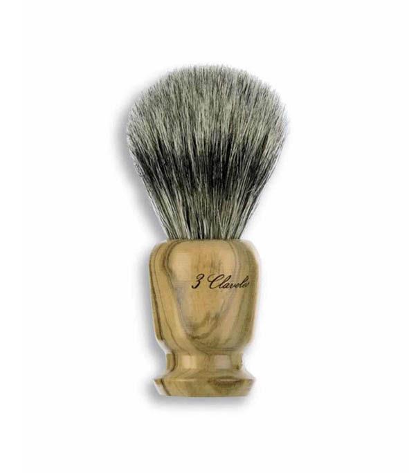 blaireau pur poils blaireau 3claveles - MAN ITSELF - Spécialiste des produits de soin visage, rasage, corps, cheveux, bouche, accessoires et idées cadeaux homme