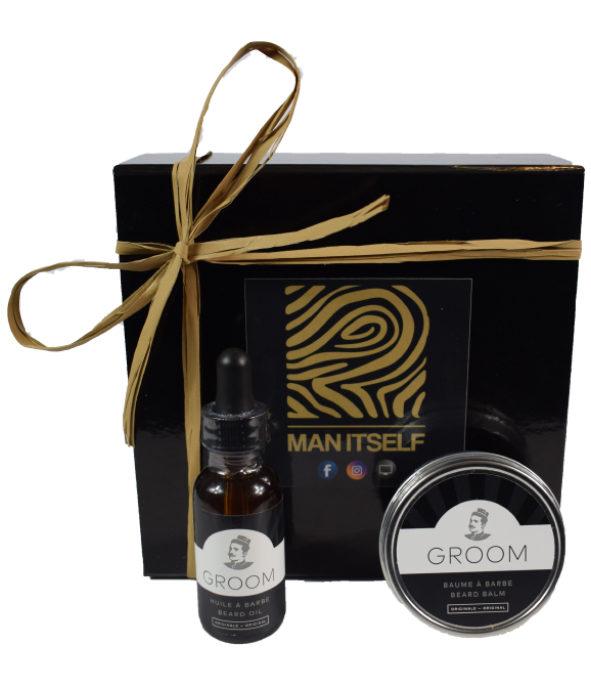 Coffret Groom 1 - MAN ITSELF - Spécialiste des produits de soin visage, rasage, corps, cheveux, bouche, accessoires et idées cadeaux homme