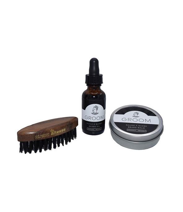 kit pour la barbe brosse huile et baume man itself. Black Bedroom Furniture Sets. Home Design Ideas