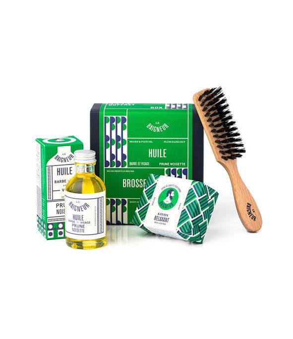 coffret entretien barbe le baigneur - MAN ITSELF - Spécialiste des produits de soin visage, rasage, corps, cheveux, bouche, accessoires et idées cadeaux homme