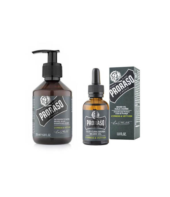 kit barbe debutant proraso - MAN ITSELF - Spécialiste des produits de soin visage, rasage, corps, cheveux, bouche, accessoires et idées cadeaux homme