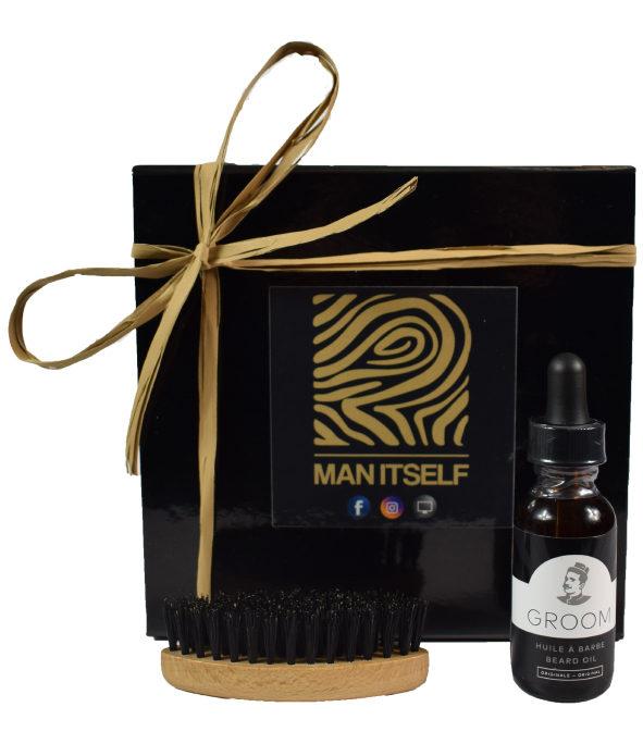 Coffret premium Groom - MAN ITSELF - Spécialiste des produits de soin visage, rasage, corps, cheveux, bouche, accessoires et idées cadeaux homme