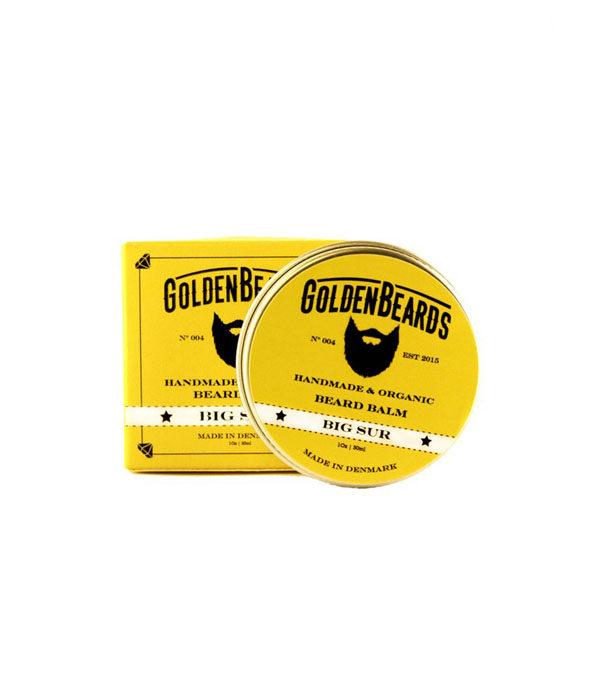 baume a barbe big sur golden beards 30ml - MAN ITSELF - Spécialiste des produits de soin visage, rasage, corps, cheveux, bouche, accessoires et idées cadeaux homme