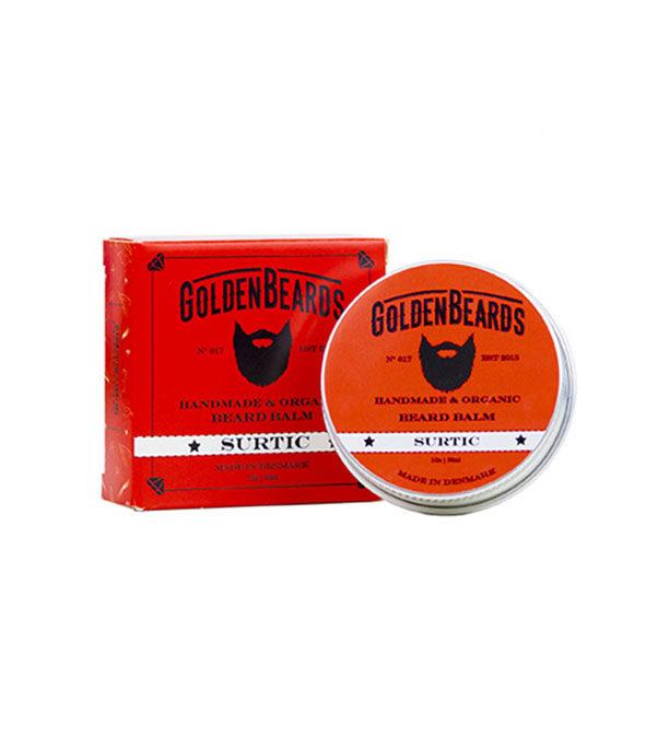 baume a barbe surtic golden beards 30ml - MAN ITSELF - Spécialiste des produits de soin visage, rasage, corps, cheveux, bouche, accessoires et idées cadeaux homme