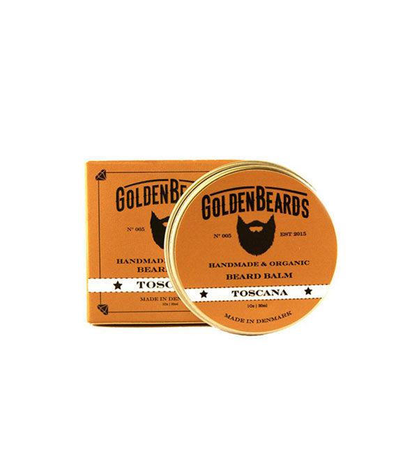 baume a barbe toscana golden beards 30ml - MAN ITSELF - Spécialiste des produits de soin visage, rasage, corps, cheveux, bouche, accessoires et idées cadeaux homme