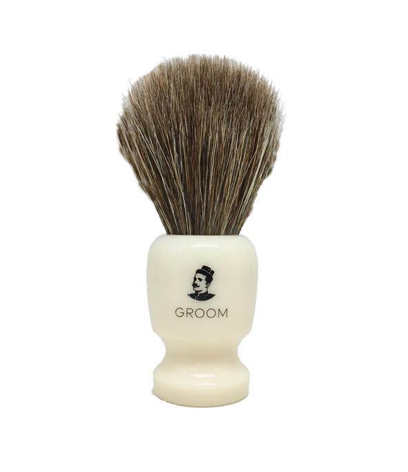 blaireau groom 1 - MAN ITSELF - Spécialiste des produits de soin visage, rasage, corps, cheveux, bouche, accessoires et idées cadeaux homme