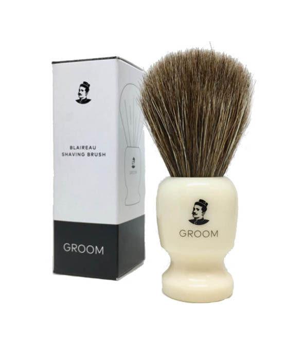 blaireau groom - MAN ITSELF - Spécialiste des produits de soin visage, rasage, corps, cheveux, bouche, accessoires et idées cadeaux homme