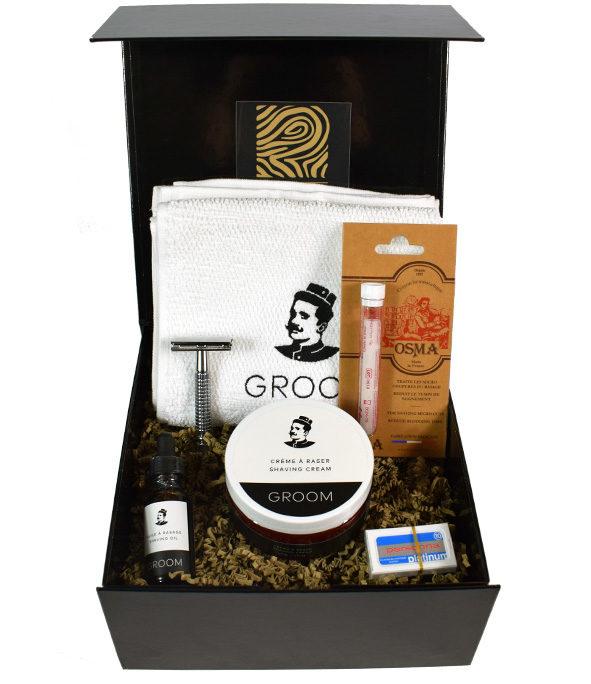 coffret rasage traditionnel serviette 2 - MAN ITSELF - Spécialiste des produits de soin visage, rasage, corps, cheveux, bouche, accessoires et idées cadeaux homme