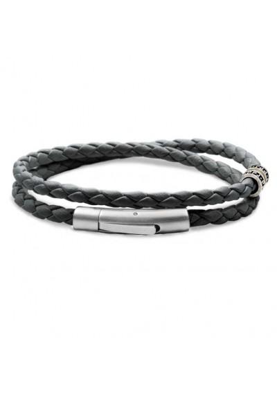 bracelet homme cuir gris souris - MAN ITSELF - Spécialiste des produits de soin visage, rasage, corps, cheveux, bouche, accessoires et idées cadeaux homme