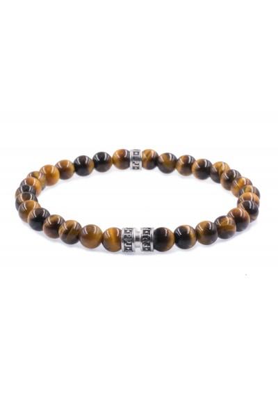 bracelet homme ppj oeil de tigre - MAN ITSELF - Spécialiste des produits de soin visage, rasage, corps, cheveux, bouche, accessoires et idées cadeaux homme
