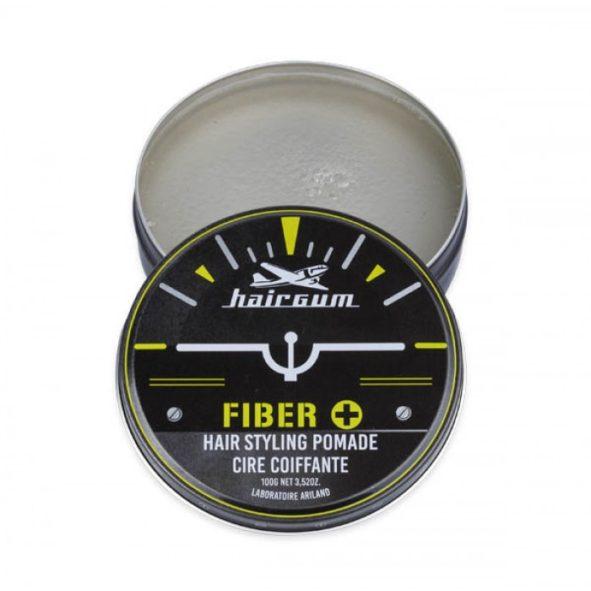 cire coiffante fiber hairgum 100g ouverte - MAN ITSELF - Spécialiste des produits de soin visage, rasage, corps, cheveux, bouche, accessoires et idées cadeaux homme