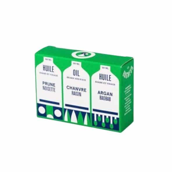 lb 3 huiles coffret - MAN ITSELF - Spécialiste des produits de soin visage, rasage, corps, cheveux, bouche, accessoires et idées cadeaux homme