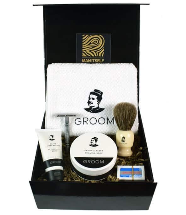 cadeau coffret rasage ancienne - MAN ITSELF - Spécialiste des produits de soin visage, rasage, corps, cheveux, bouche, accessoires et idées cadeaux homme
