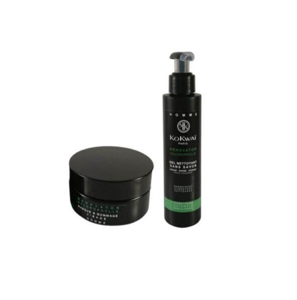 kokwai duo nettoyant gommage - MAN ITSELF - Spécialiste des produits de soin visage, rasage, corps, cheveux, bouche, accessoires et idées cadeaux homme