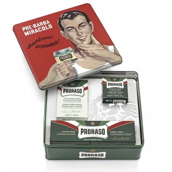 proraso coffret gino - MAN ITSELF - Spécialiste des produits de soin visage, rasage, corps, cheveux, bouche, accessoires et idées cadeaux homme