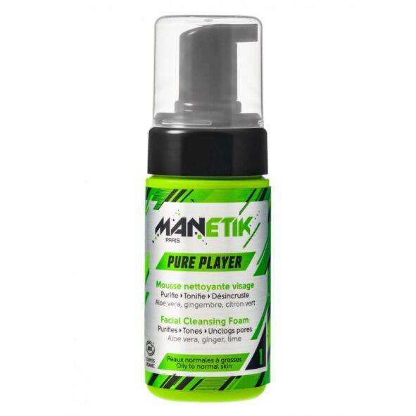manetik mousse nettoyante - MAN ITSELF - Spécialiste des produits de soin visage, rasage, corps, cheveux, bouche, accessoires et idées cadeaux homme