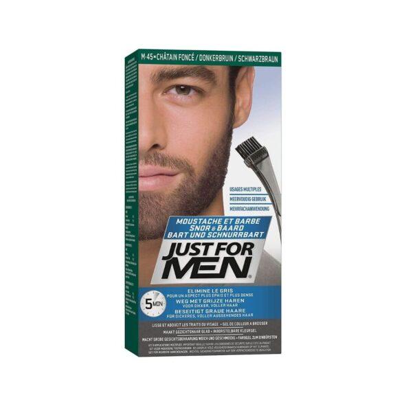 coloration barbe chatain fonce just for men - MAN ITSELF - Spécialiste des produits de soin visage, rasage, corps, cheveux, bouche, accessoires et idées cadeaux homme
