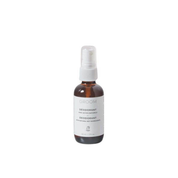 deodorant naturel spray groom - MAN ITSELF - Spécialiste des produits de soin visage, rasage, corps, cheveux, bouche, accessoires et idées cadeaux homme