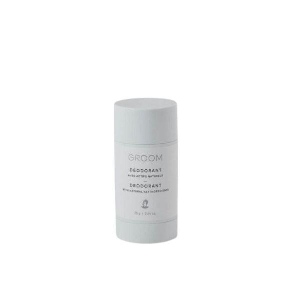 deodorant naturel stick groom - MAN ITSELF - Spécialiste des produits de soin visage, rasage, corps, cheveux, bouche, accessoires et idées cadeaux homme