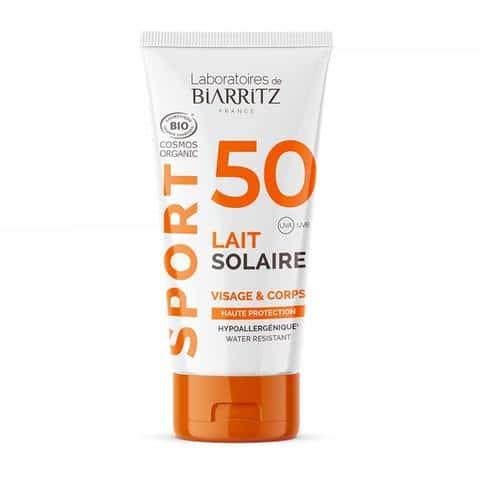lait solaire spf50 certifie bio sport voyage - MAN ITSELF - Spécialiste des produits de soin visage, rasage, corps, cheveux, bouche, accessoires et idées cadeaux homme