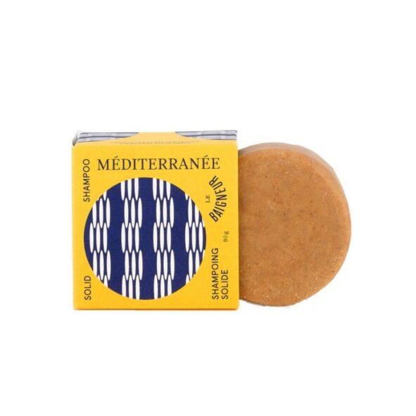 shampoing solide citronelle mediterranee le baigneur - MAN ITSELF - Spécialiste des produits de soin visage, rasage, corps, cheveux, bouche, accessoires et idées cadeaux homme